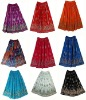 Womens Bollywood Gypsy Cotton Long Skirt Dress Indian-Women Sequin Bohemian Skirt