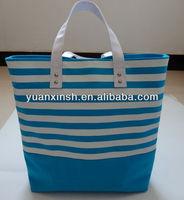 Stripe Canvas Handbag Shopping bag for women