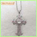 Caliente con estilo de la aleación cristal cruz collar accesorios de ropa # 1450