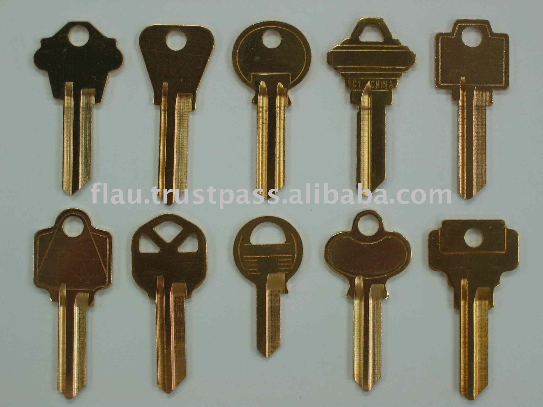 Llaves en blanco de lat n llave de llaves de la puerta de - Llaves antiguas de puertas ...