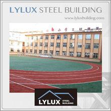 China prefab school building,steel structure concrete building floor & wall school building