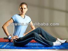 brown nylon long yoga/training pants for women,sport wear