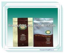 Laminated custom printing coffee package aluminum foil zip lock bag