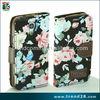 stylish rose flower printing folio leather case for samsung galaxy s4 mini