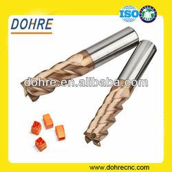 DOHRE 4 Flutes Tungsten Solid Carbide Milling Machine Tools