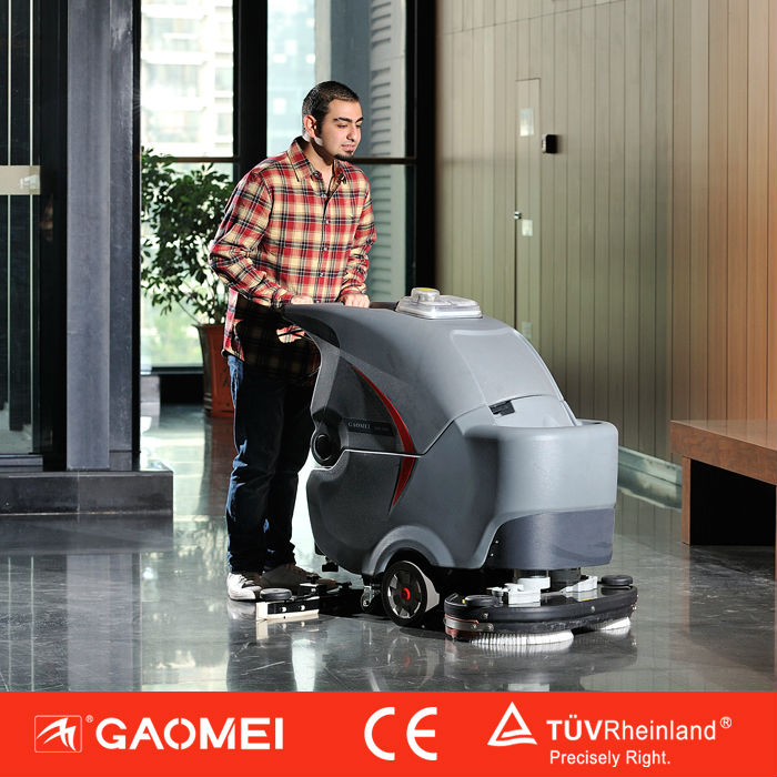 Machines for cleaning tile floors