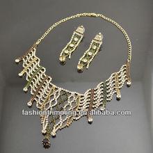 Charming Rhinestone Tassel Inspired Vintage Jewelry Set