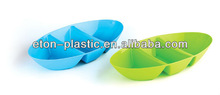 Plastic oval chip sushi plate