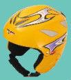 yellow beautiful kids outdoor skiing helmet