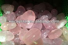 Natural Rock Rose Quartz Crystal Heart RQH2
