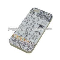 for iphone 5 tpu case custom , IMD printing with shinny finish