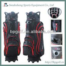 Custom made OEM ODM golf cart bag with umbrella holder