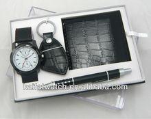 Hot New fashion men watch gift set high quality men wrist watch
