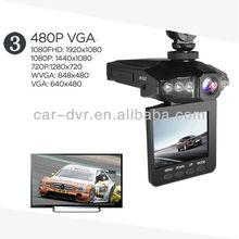 "On sell!!! 2.5""colorful LCD 6 IR night vision HD portable car black box"