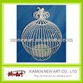 na412a022 branco gaiola decorativa aramefarpado na venda quente