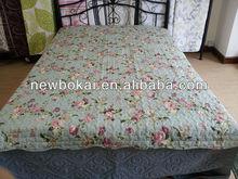 Soft blue printed quilt/spread 3 pcs