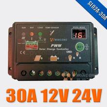 Cheap price Wincong SL-02A 12v 24v auto work 30A charge Regulator