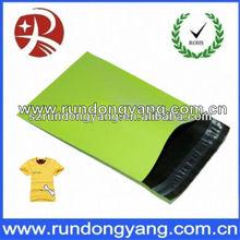 beautiful and fashion green plastic self seal mailing bag