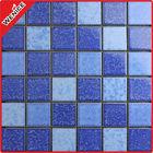 blue bathroom flooring ceramic mosaic tile 6mm,2''x2''