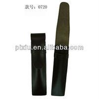 Black leather pen holder case