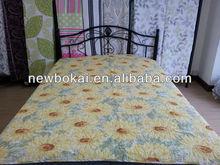 Fashion elegant big yellow flower printed quilt/spread 3 pcs