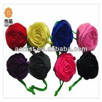 Rose flowers folding shopping bag