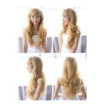 Wigs Korea made Yellow Long wave Type