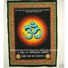 "Holy Om Shiva Symbol Aum Meditation Yoga Sequin Cotton Wall Hanging 40"" X 30"""