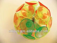 2.5inch suction ball colored plastic balls cheap plastic balls