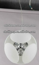 white color glass bubble chandelier for restaurants, charming glass bubble chandelier in white color