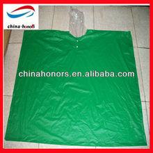 green pvc custom printed rain ponchos
