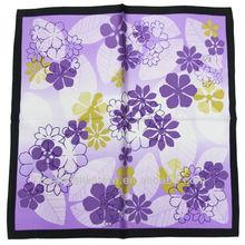 100% Pure Fashion Silk Satin Square Handkerchief HS136