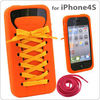 Fashion Shoe Lace Soft Silicone Cell Phone Skin Case Cover Accessory for iPhone 4 4G 4S
