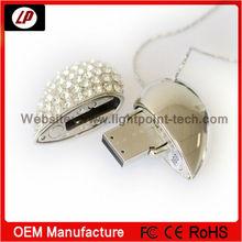 Fashion Jewel Heart USB Flash