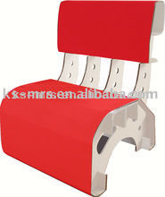 corrugated paper furniture red chair