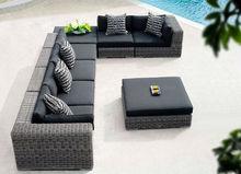 Rattan living accents outdoor furniture 7 seater sof garden furniturerattan balcony sofa set Foshan Furniture (HL-9100)