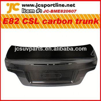 Car trunk carbon accessory for BMW E82 CSL carbon fiber rear trunk cover