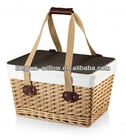 cheap empty picnic baskets,the honey color,Approved b