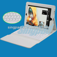 Hot Sale for ipad 2/3/4 Leather Case Keyboard with Bluetooth