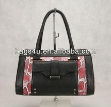 Snake Pattern Printing genuine leather handbag woman fashion online shopping hongkong