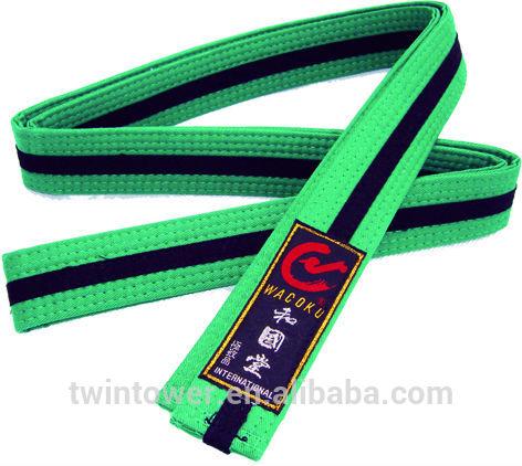 taekwondo karate judo color belt/ 100% cotton color belt/ martial arts training equipment