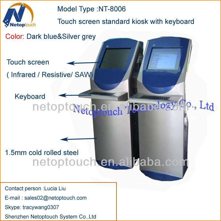 Multi touch keyboard kiosk