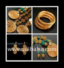 Capim Dourado Hand Made Craft GOLD GRASS Earrings