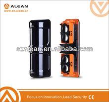 Quad beam sensor infrared motion detecting alarm