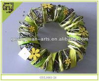 2014 wholesale artificial flower head wreath