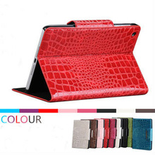 fashion red crocodile leather stand cover for ipad mini