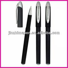 Simple promotional slim plastic rollerball gel pen