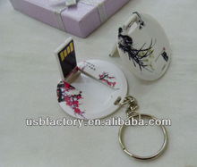 Chinoiserie customized logo roundness plastic 4gb 8gb usb flash memory, usb flash drive