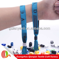 OEM wholesale polyester New Year fabric wristband with snaps