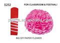 Decorazione( s252) grande fai da te di carta fiore
